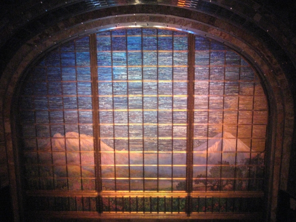 Tiffany glass curtain in the Palace of Fine Arts