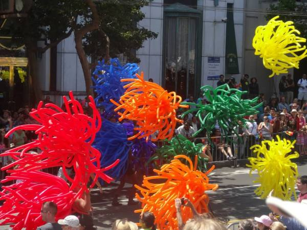 2013 SF Pride Parade - Balloons - Photo by Larry Minogue