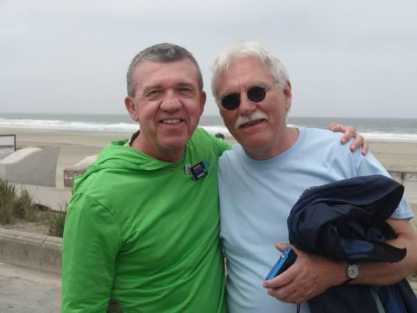 Larry and Cal at Ocean Beach - Fun Badge Tour