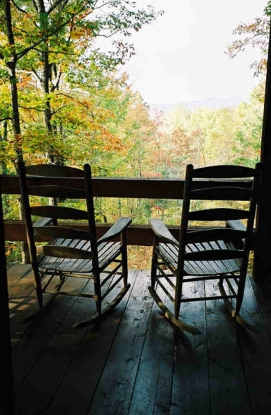 Cabin - two porch rockers 22A