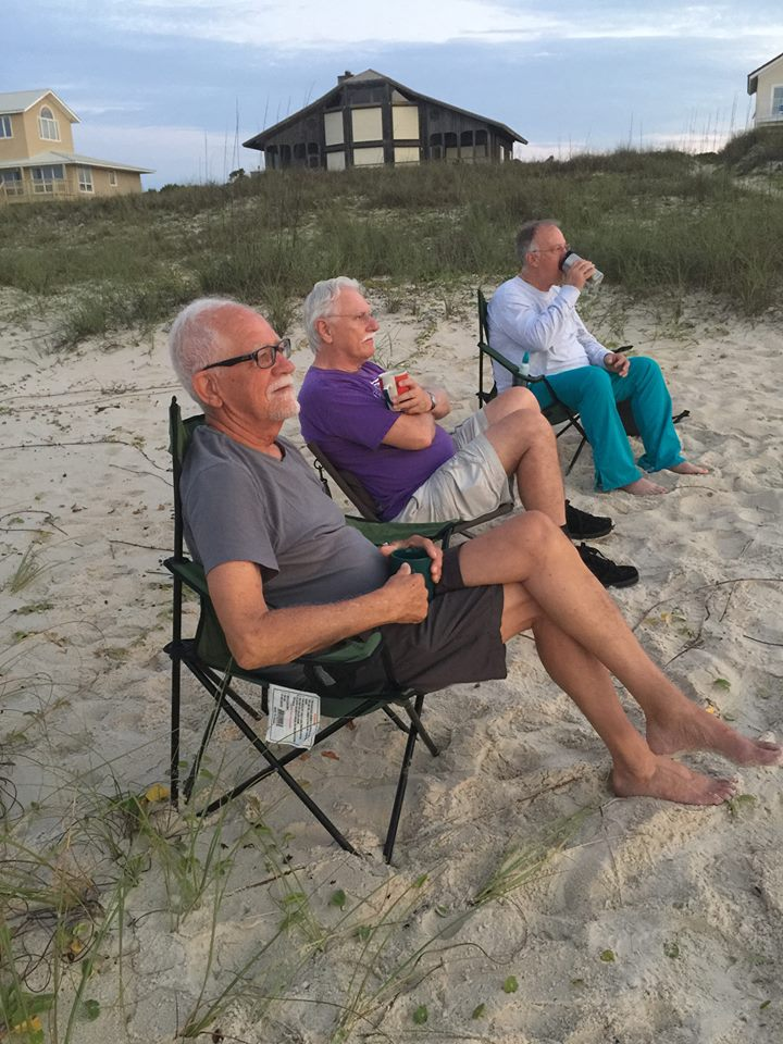 Roger, Cal, and Randall waiting for another spectacular sunrise