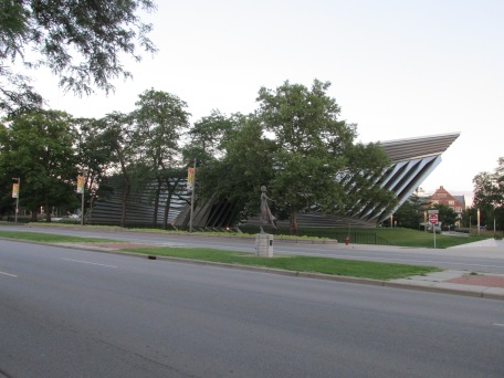 The art museum at MSU -  which turned out to be a lot more interesting from the outside than  inside