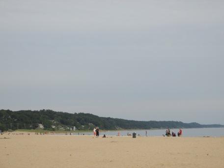 Lake Michigan beach scene