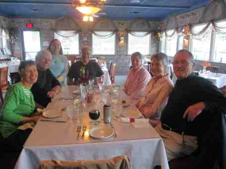 Another restaurant meal, this one near Algonac with another set of Kris's friends