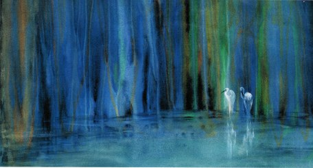 Two Egrets by Roderick MacIver