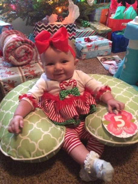Reese at Christmas 2017