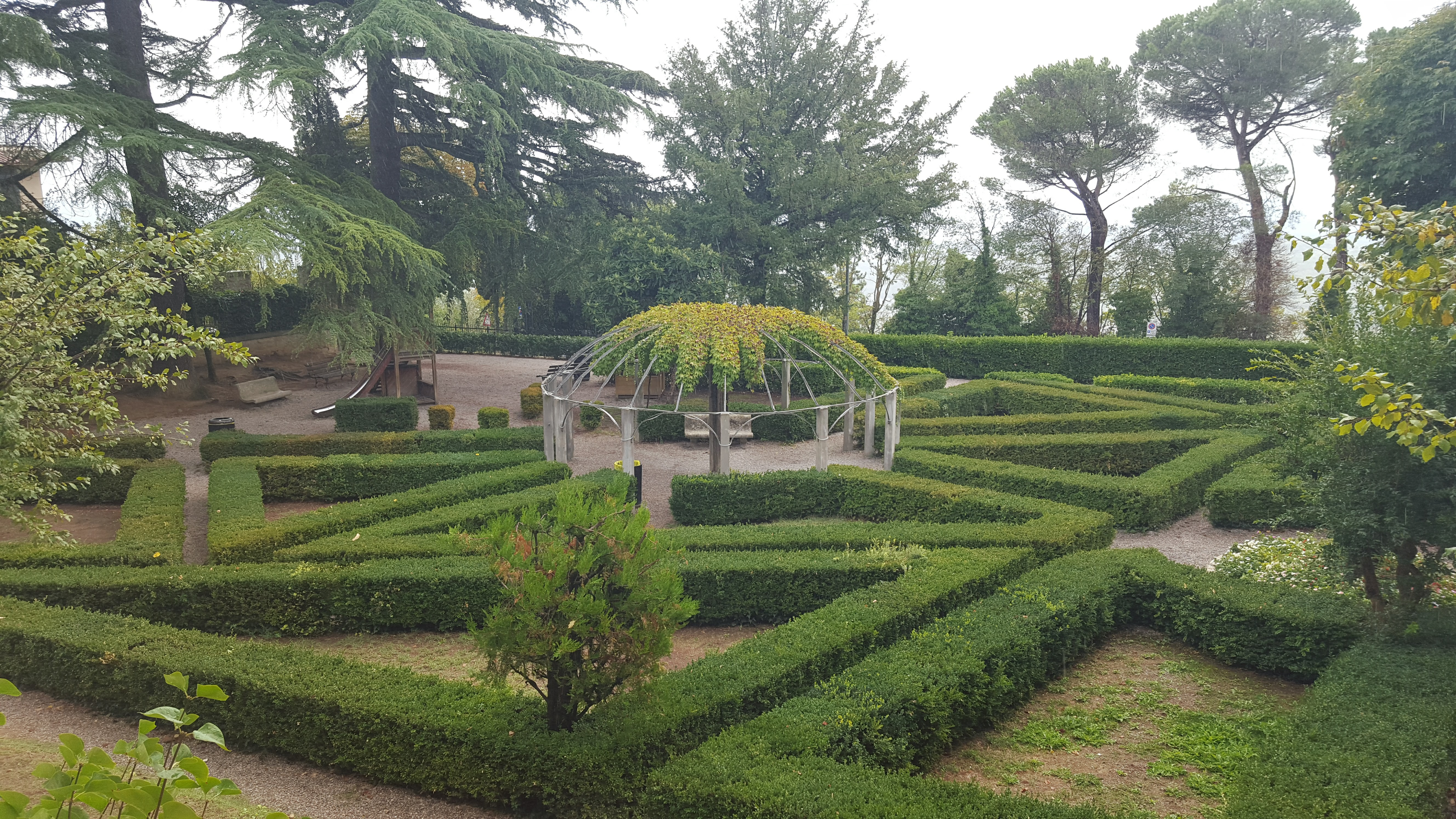 Garden at fortress in Montepulciano