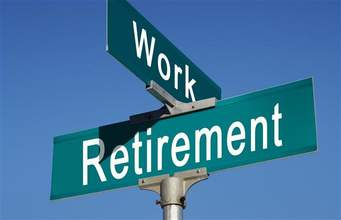 Work Retirement Intersection Sign