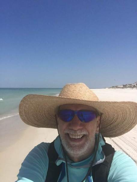 Chaser's selfie at beach
