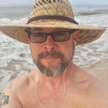 Greg's selfie at beach