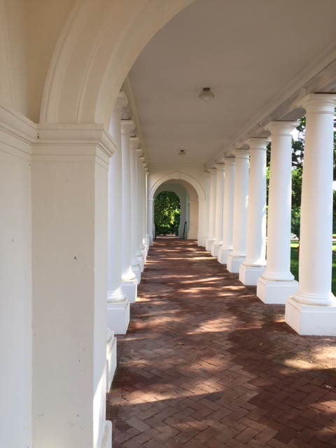 UofVA dorm colonnade by Randy