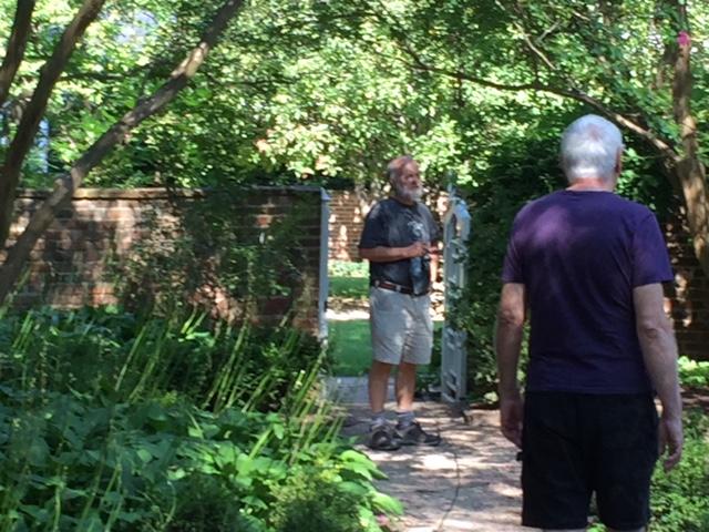 UVA garden short with Reed