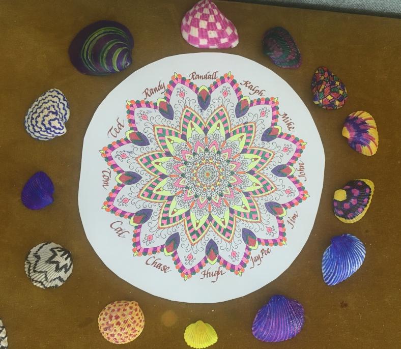 John's photo of the mandala and the painted shells.jpg