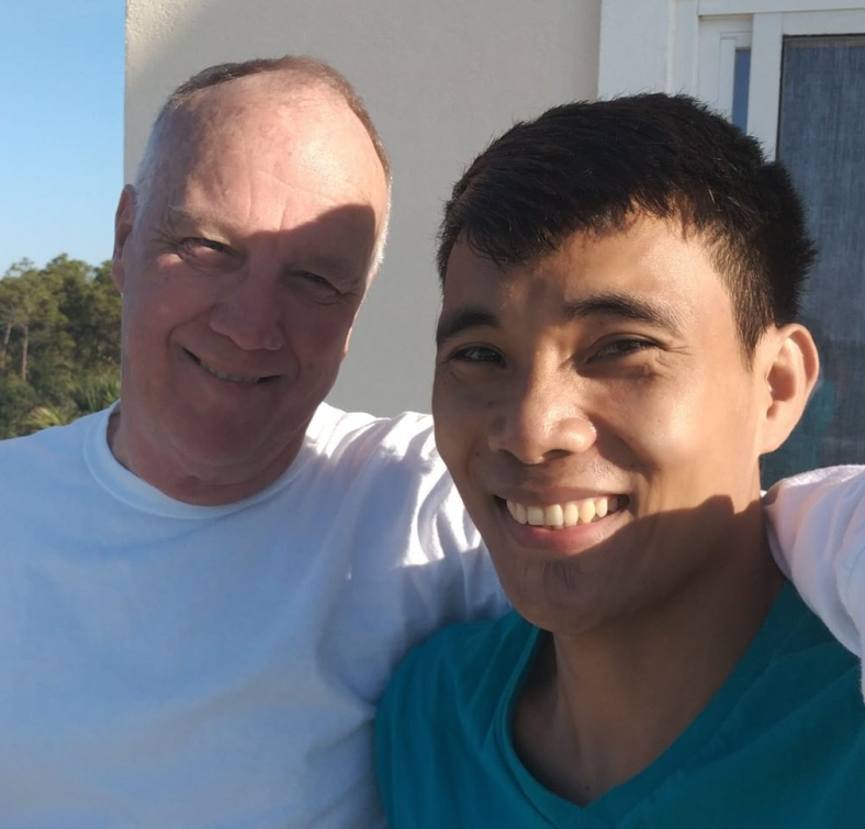 Randall's photo of him and Jay Pee