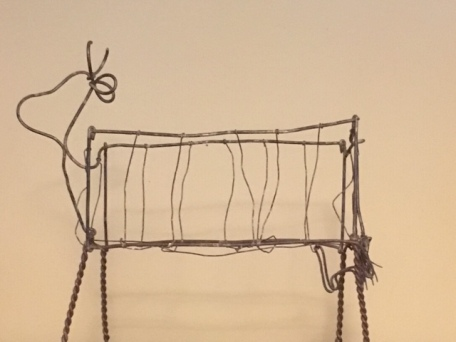 Wire cow