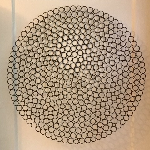 Wire wall sculpture
