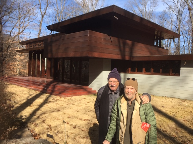 Cal and Randy at Frank Lloyd Wright House Arkansas 2019