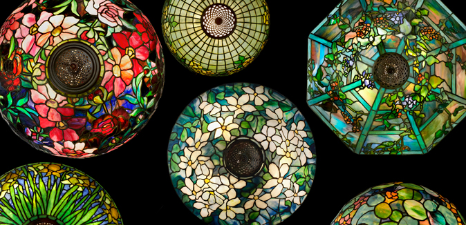Montage of Tiffany Lamps